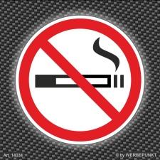 252 Stück Aufkleber Nichtraucher Rauchverbot...