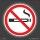 252 Stück Aufkleber Nichtraucher Rauchverbot Ø 28 mm
