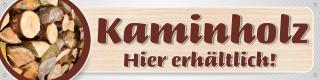 "PVC-Werbebanner Plane Brennholz ""Kaminholz"" Ofen,  200x50 cm mit Ösen"