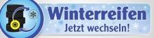 """PVC-Werbebanner """"Winterreifen"""" 400x100 cm mit..."""