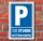 Schild Parken, Parkplatz,1/2 Std. mit Parkscheibe, 3 mm Alu-Verbund