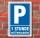 Schild Parken, Parkplatz,1 Std. mit Parkscheibe, 3 mm Alu-Verbund