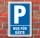 Schild Parken, Parkplatz, Nur für Gäste, 3 mm Alu-Verbund
