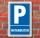 Schild Parken, Parkplatz, Mitarbeiter, 3 mm Alu-Verbund