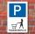 Schild Parkplatz, Frauenparkplatz, 3 mm Alu-Verbund