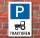 Schild Parkplatz, Traktoren, 3 mm Alu-Verbund
