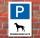 Schild Hundeparkplatz, Hund parken, Aluverbund hochkant