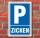 Schild Parken, Parkplatz, Zicken, 3 mm Alu-Verbund