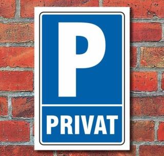 Schild Parken, Parkplatz, Privat, 3 mm Alu-Verbund