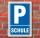 Schild Parken, Parkplatz, Schule, 3 mm Alu-Verbund