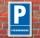Schild Parken, Parkplatz, Ferienwohnung, 3 mm Alu-Verbund