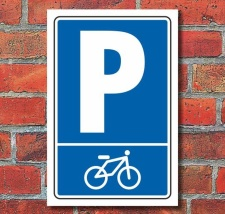Schild Parken, Parkplatz, Fahrrad Symbol, 3 mm...