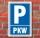 Schild Parken, Parkplatz, PKW, 3 mm Alu-Verbund