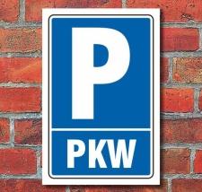 Schild Parken, Parkplatz, PKW, 3 mm Alu-Verbund 600 x 400 mm