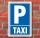 Schild Parken, Parkplatz, Taxi, 3 mm Alu-Verbund