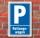 Schild Parken, Parkplatz, Rettungswagen, 3 mm Alu-Verbund