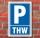 Schild Parken, Parkplatz, THW, 3 mm Alu-Verbund