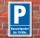 Schild Parken, Parkplatz, Kurzzeitparker bis 10 min, 3 mm Alu-Verbund