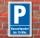 Schild Parken, Parkplatz, Kurzzeitparker bis 15 min, 3 mm Alu-Verbund