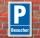 Schild Parken, Parkplatz, Besucher, 3 mm Alu-Verbund