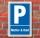 Schild Parken, Parkplatz, Mutter & Kind, 3 mm Alu-Verbund