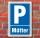 Schild Parken, Parkplatz, Mütter, 3 mm Alu-Verbund